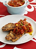 Grilled pork chops, Caribbean style