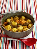 Oil Down (Meat stew with dumplings from the Caribbean)