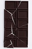 Bar of chocolate, broken