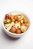 Nibbles from Japan in small white bowl