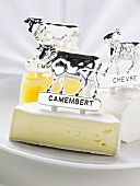 Camembert, Chèvre and Emmental with animal figures