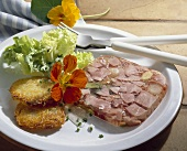 Jellied ham with potato rosti