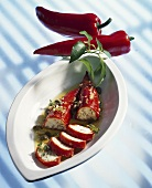Peppers stuffed with sheep's cheese