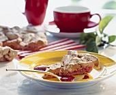 Baiserkuchen mit Kirschen