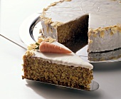Iced carrot cake (Switzerland)