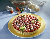 Strawberry tart with marzipan