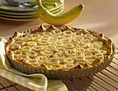 Banana and honey tart