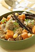 Lamb stew with saffron