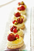 Petit fours with berries