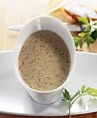 Mustard sauce in sauce-boat