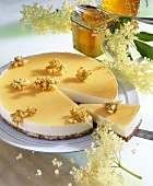 Elderflower torte with honey
