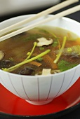 Vegetable broth with shiitake mushrooms