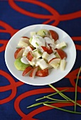 Avocado and radish salad with yoghurt dressing
