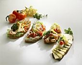 Assorted open sandwiches (Smörgas, Sweden)