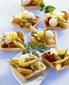 Pickled vegetable tartlets