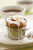 Apple and cinnamon muffin with coffee