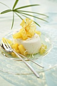 Panna cotta with coconut and pineapple
