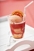 Campari orange sorbet