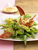 Rocket salad with lobster