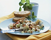 Cauliflower and chick-pea salad