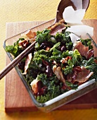 Portuguese-style kale salad with ham and Parmesan