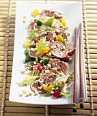 Sausage salad with sprouts (Asia)