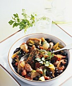 Black bean stew with chorizo (Spain)