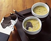 Onion soup with Asian summer truffle