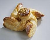 Iced pastry pinwheel