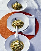 Millet risotto with vegetables