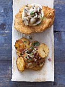 Redfish escalope with fried potatoes