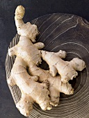 Fresh ginger roots