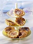 Pasteis de Nata (custard tarts, Portugal) on tiered stand