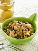 Chick-pea salad with lemon confit