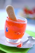 Fruit jelly with lady finger for children