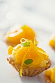Mandarin orange tarts with vanilla cream