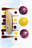 Goose liver with sauces
