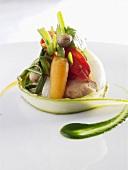 Rabbit fillet with vegetables
