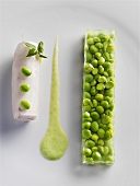 Rabbit fillet with peas in aspic