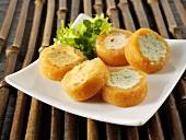 Filled salmon rolls