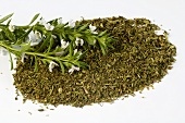 Winter savory, fresh and dried