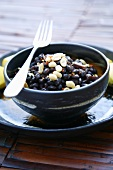 Black beans with bacon, peanuts, chilli (Namibia, Africa)