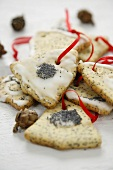 Poppy seed biscuits for Christmas (bells)