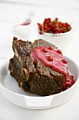 Roast beef with redcurrant sauce