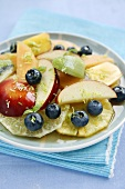 Fruit salad with lime zest