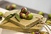 Olive soap and fresh olives