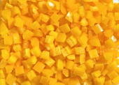 Diced yellow pepper (full-frame)
