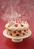 Strawberry gateau for birthday