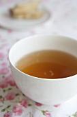 Tea in white bowl
