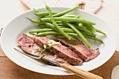 Sirloin steak with green beans
